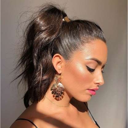chocolate ponytail